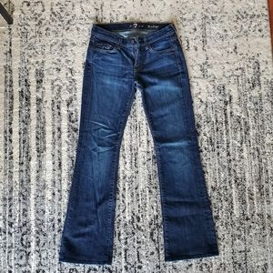 NWOT 7 For All Mankind dark bootcut jeans petite